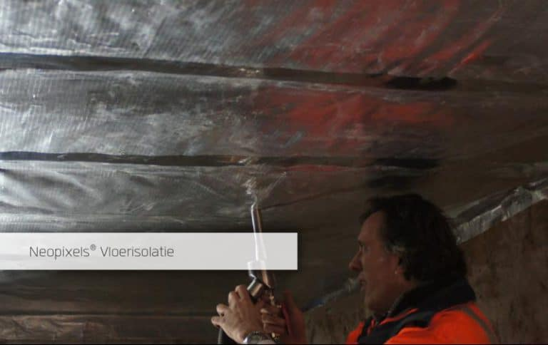 ISOenergy NEOpixels vloerisolatie hout